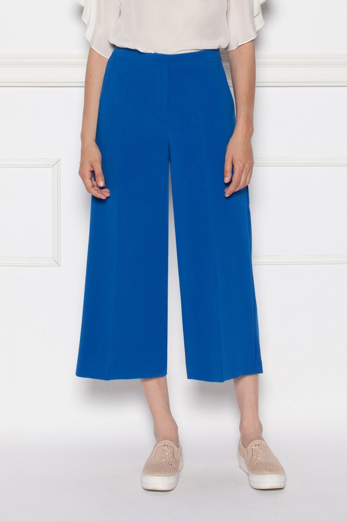 Pantaloni bleumarin culottes Albastru electric