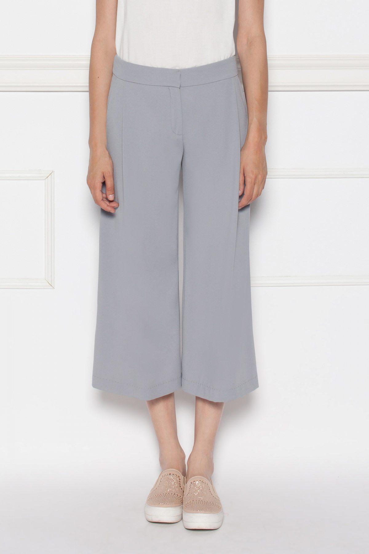Pantaloni lejeri culottes Gri