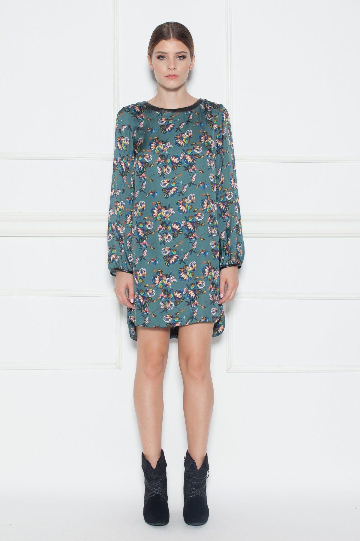 Rochie de zi forma H cu imprimeu floral Print