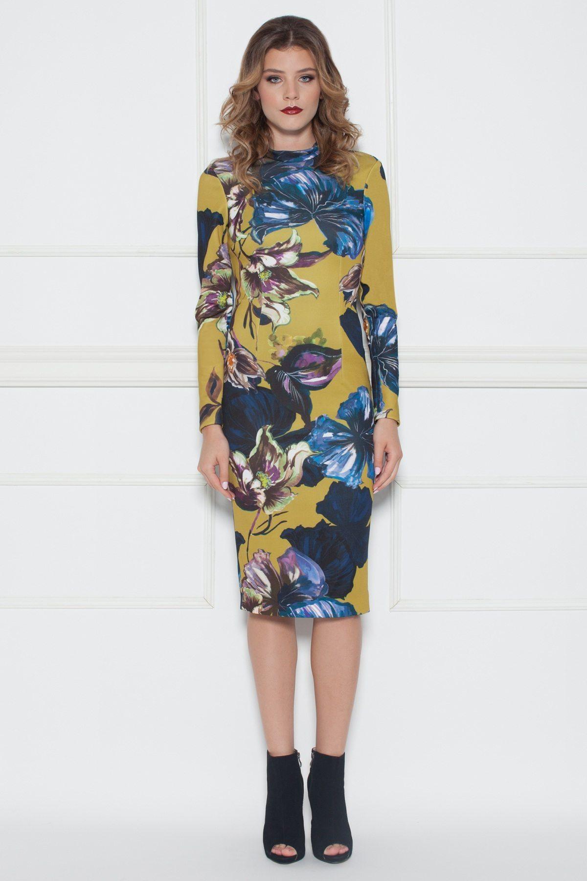Rochie bodycon cu imprimeu floral Print