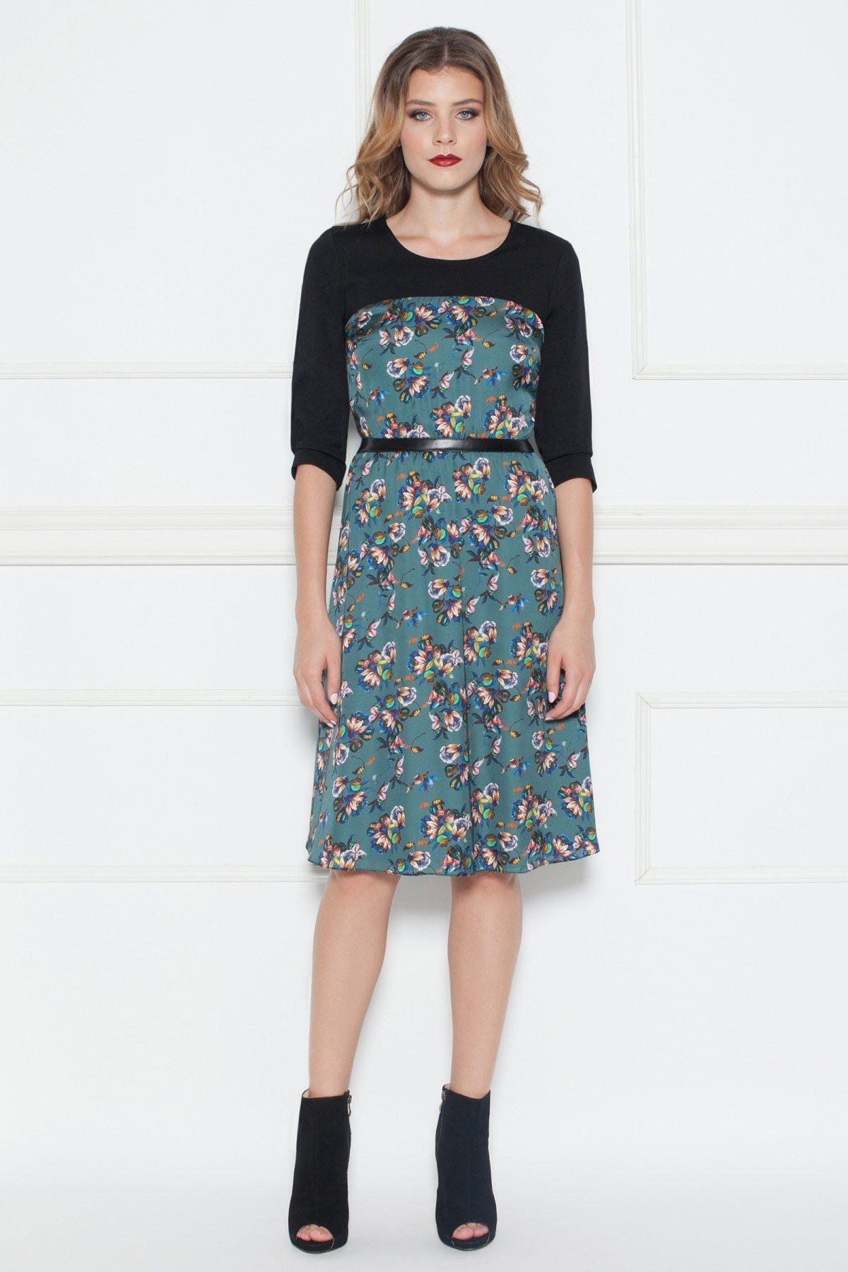 Rochie de zi cu imprimeu floral Print