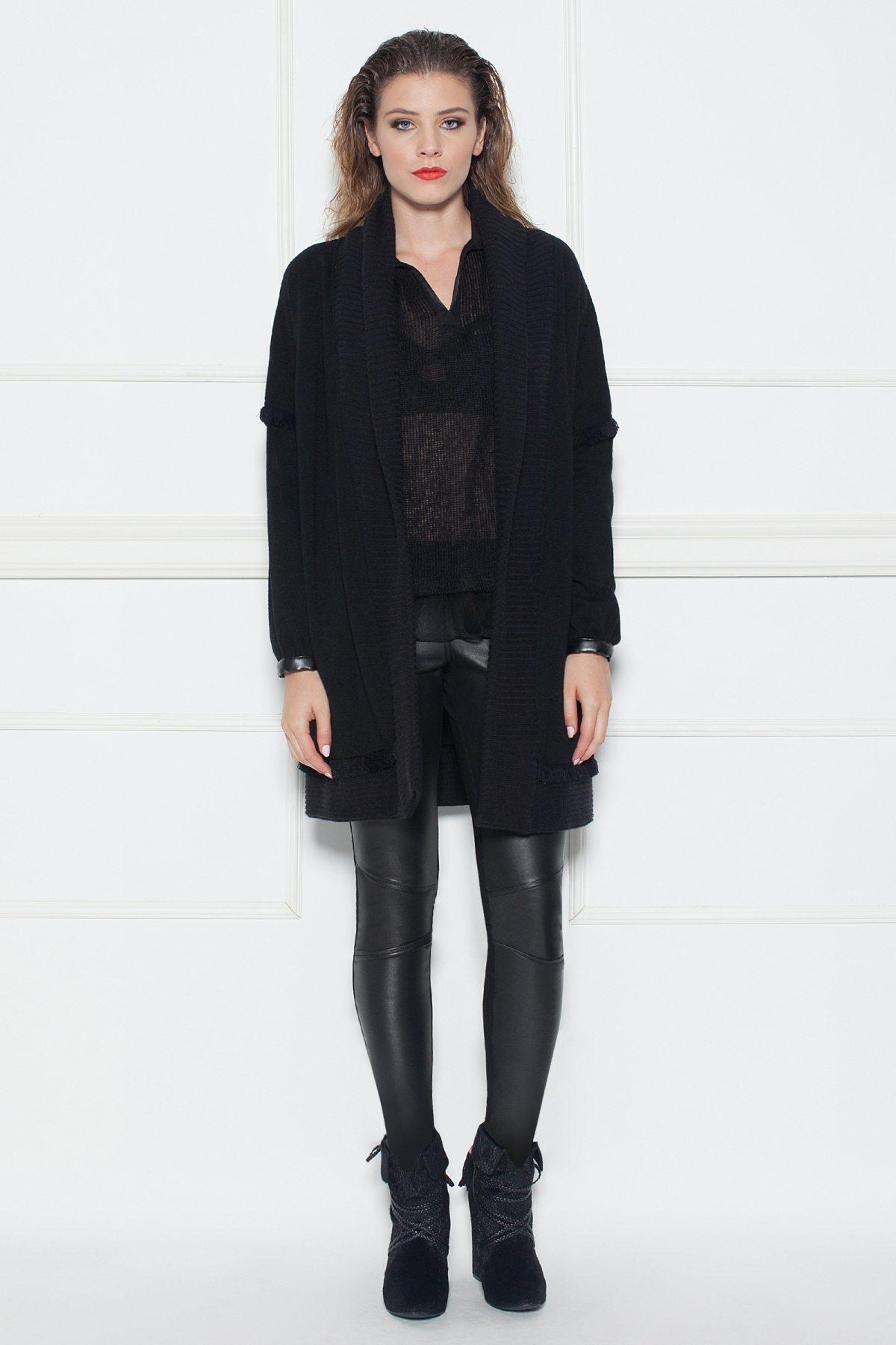 Cardigan negru tricotat Negru